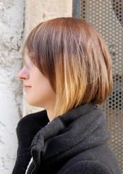 trendy short haircut women