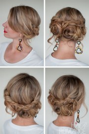 casual messy braided updo