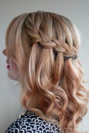 school hairstyle ideas waterfall