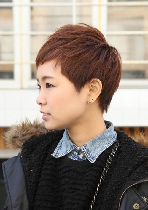 Trendy Short Layered Boyish Hair Style - Boyish Cut for Women