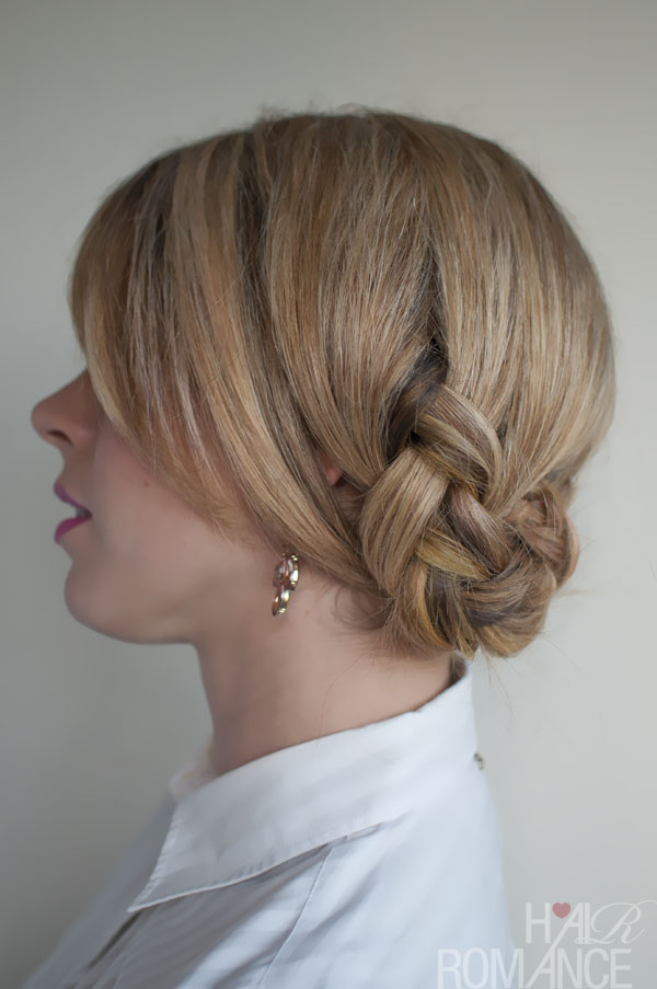 Twisted Braided Updo - Unique Braided Hairstyles with Bangs