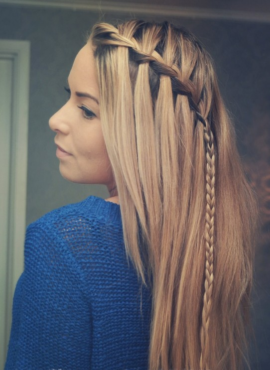 Braided Choppy Waterfall Hairstyle - Best Hairstyles for Girls