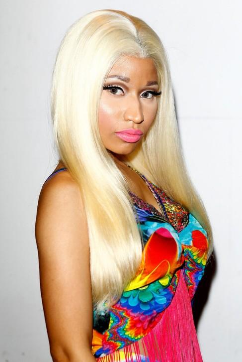 Nicki Minaj Long Blonde Straight Hairstyle