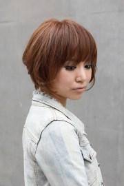 trendy short copper haircut