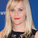 Reese Witherspoon Long Blonde Side Parted Sleek Hairstyle with Side Bangs