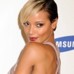 Selita Ebanks Trendy Short Straight Asymmetrical Cut