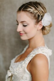 romantic braided bun updo