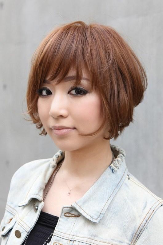 Trendy Short Japanese Bob Haircut with Bangs