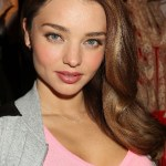 Adriana Lima Side Part Long Hairstyles 2014