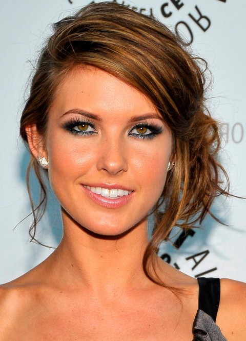 Audrina Patridge Side Chignon Updo Hairstyle