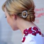 Emma Stone Hairstyles - Back View of Elegant Updos