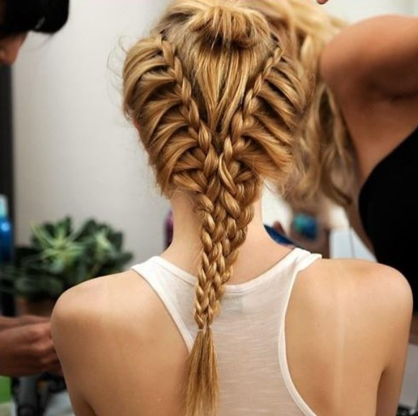 Cool Braid For Summer Amazing V Shaped Twin Braids Hairstyles