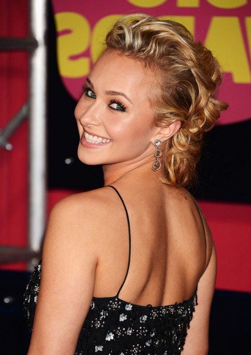 Hayden Panettiere cute long blonde curly hairstyle for women