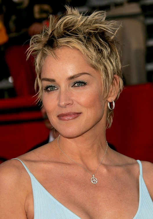 Sharon Stone Hair 2020 : sharon, stone, Trendy, Tousled, Short, Punky-Pixie, Women:, Sharon, Stone, Haircut, Hairstyles, Weekly