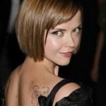 Cute short bob haircut with bangs - Christina Ricci haircut