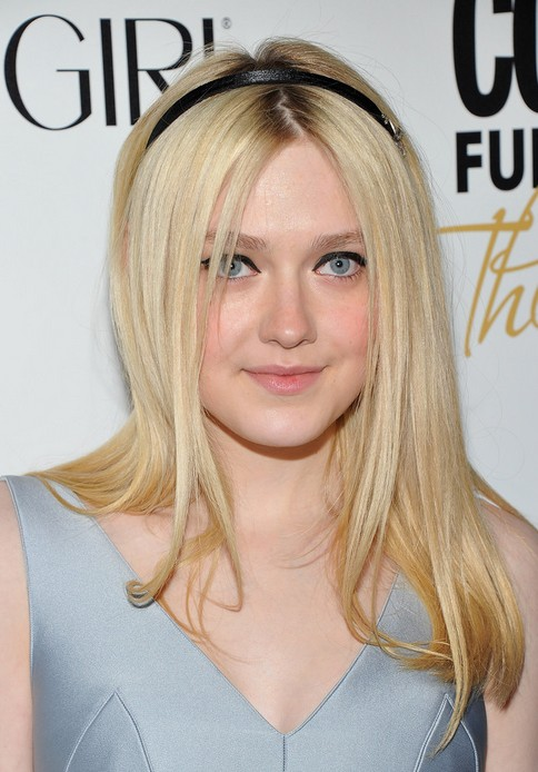 Long Straight Hairstyle with Headband - Dakota Fanning's Hairstyle