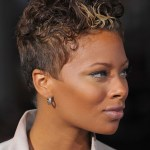 Side view of short curly hairstyle for black women from Eva Pigford