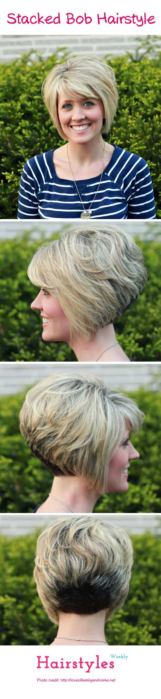 different haircuts gorgeous stacked bob hairstyle with side swept bangs for 2428