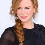 Copper Hair: Messy Side Braided Hairstyle for Women - Nicole Kidman's Hairstyle