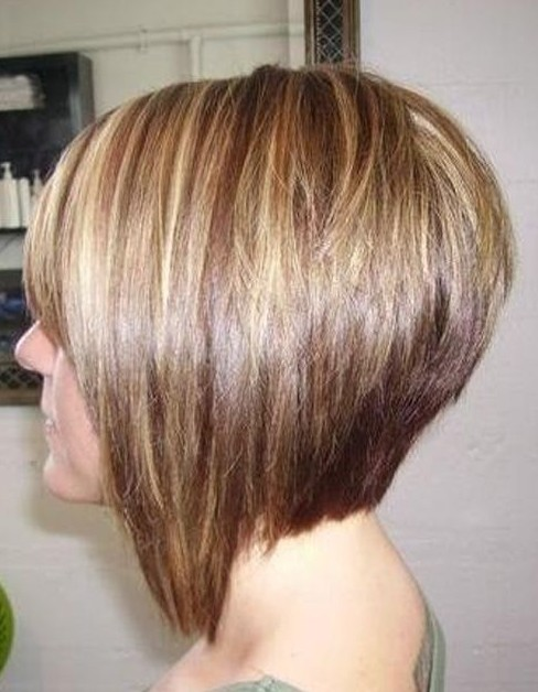 Side View of Short Straight Bob Hairstyle