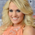 Carrie Underwood Long Blonde Wavy Hairstyle