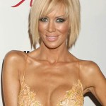Inverted Platinum Blonde Bob Haircut - Jenna Jameson's Short Hairstyle