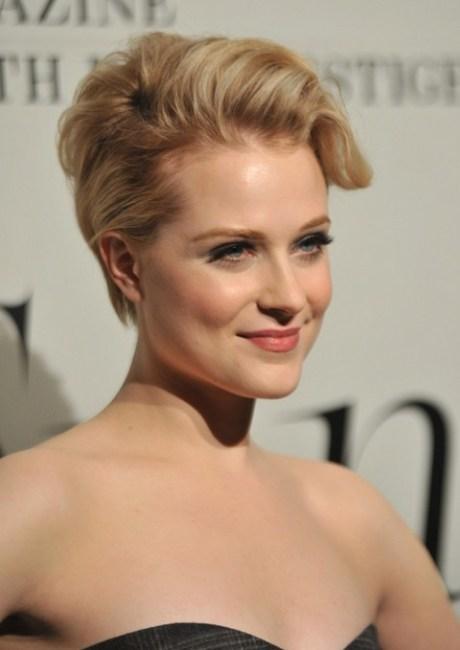 Updo for Short Hair - Evan Rachel Wood Short Blonde Updo 2014