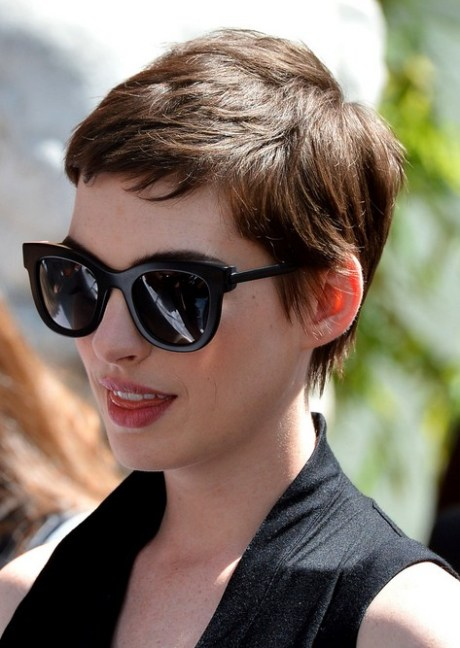 Anne Hathaway Pixie Cut for 2015 - Cool Short Boy Cut for Women