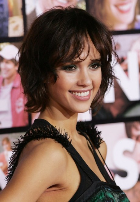 JESSICA ALBA Short Curly Bob Hairstyle for 2015