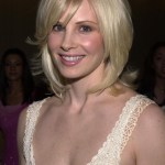 Monica Potter blonde stragiht demi bob hairstyle
