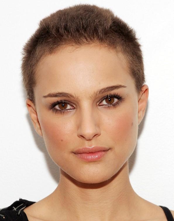Very Short Buzz Cut For Women Natalie Portmans