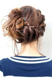 view of messy braided updo