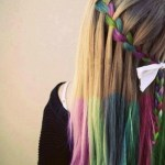 Hair Chalk Trend Rainbow Braid Hippy Look /tumblr