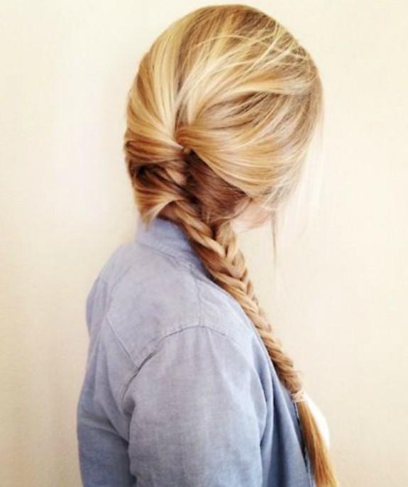 Romantic Messy Herring-bone Side Braid for girls
