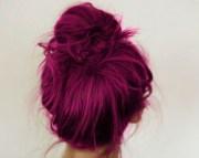cool hair stunning messy magenta