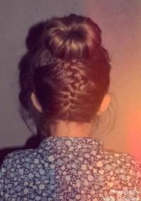 Cute Upside Down French Braid Bun Updo - Braid Hair Ideas ...