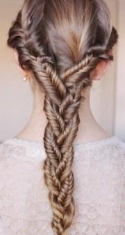summer hair ideas triple fish-tail