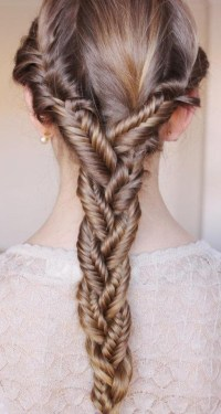 Summer Hair Ideas: Triple Fish-Tail Braided Elegance ...