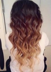 ombre hair color idea brown