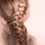 Cute girls side braid