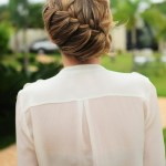 Romantic Waterfall Braid Updo - Wedding Hairstyles