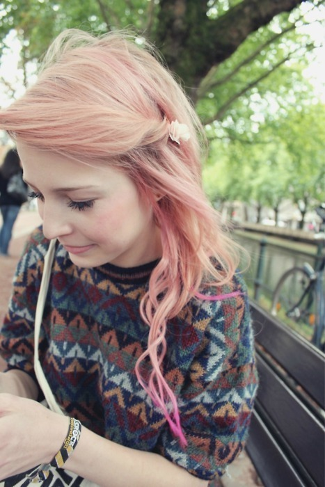 Cute Girls Pink Hairstyle For Spring 2014 Hairstyles Weekly