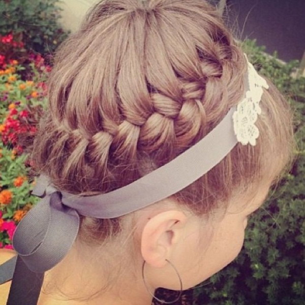 Girls Braided Updo - Perfect for Summer