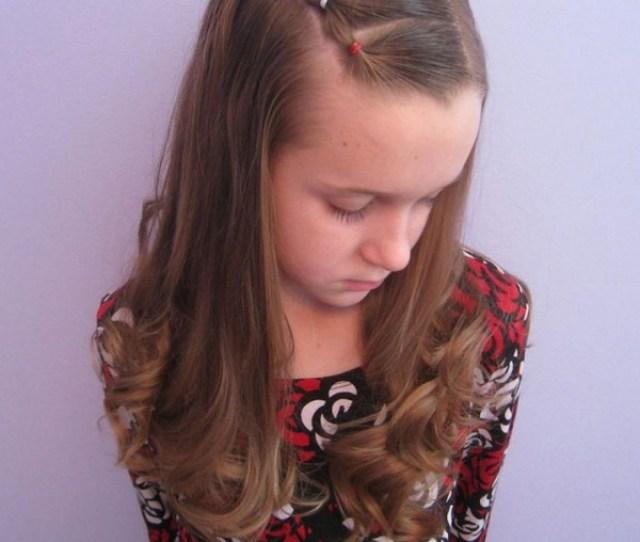 Girls Curly Hairstyle Elegant Long Wavy Curly Hair