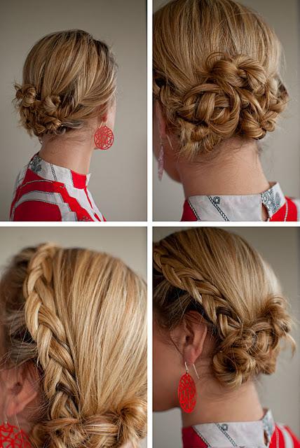 Summer hair ideas: braided Twist & Pin Chignon updo