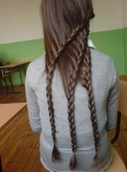 cool triple layered braids
