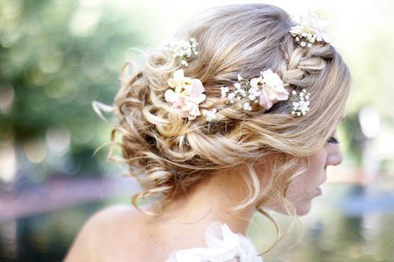 Side View of Dutch Flower Braid for Wedding