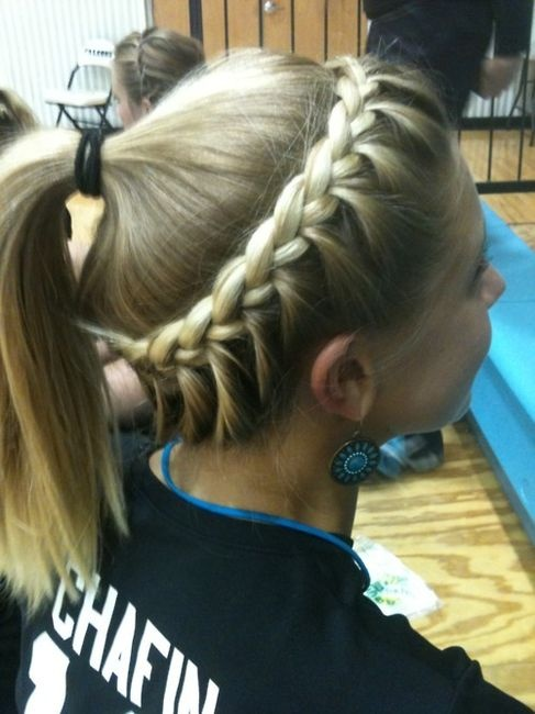 Softball Hair Braided Hairstyle & Ponytail For Sports