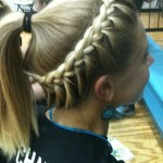 Side View of Girls Softball Hair - Braided Hairstyle & Ponytail for Sports