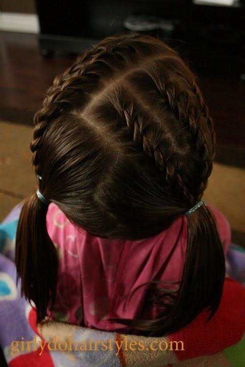 Short Hair Braids & Piggies for Girls